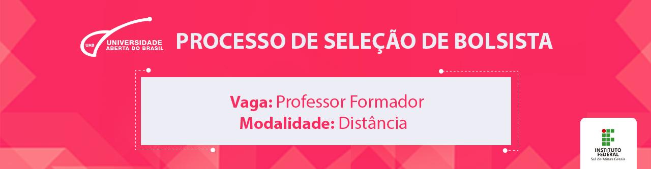 Inscrições para seleção de professor formador na modalidade à distância